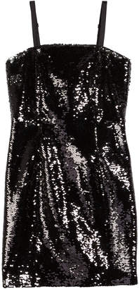 Milly Minis Spaghetti-Strap Sequin Dress, Size 8-16