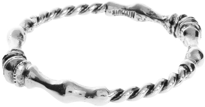 Low Luv x Erin Wasson Rope Twist And Horse Hoof Bangle