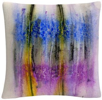 "Anthony Logistics For Men Baldwin Aural Colorful Shapes Line Composition 16x16"" Decorative Throw Pillow by Sikich"