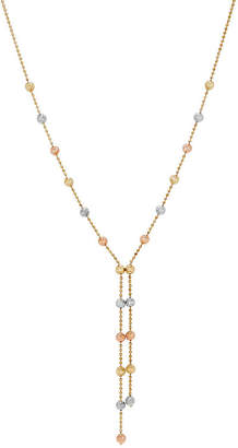 FINE JEWELRY Womens Tri-Color 14K Gold Y Necklace