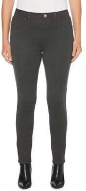 Rafaella Heathered Skinny Ankle Pants