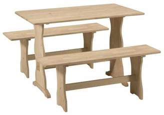 INC International Concepts Trestle Table with 2 Benches