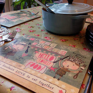 Alice Palace Set Of Personalised Placemats