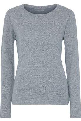 Majestic Filatures Marled Cotton, Cashmere And Silk-blend Sweater
