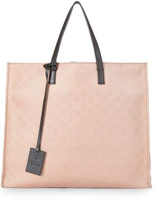 31eaba7ec2e9 Gucci Pink GG Nylon Shopper Tote