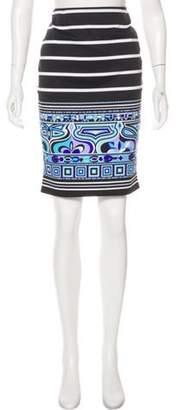 Emilio Pucci Printed Knee-Length Skirt Black Printed Knee-Length Skirt