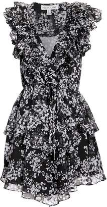 Shona Joy Dakota Ruffle Printed Mini Dress