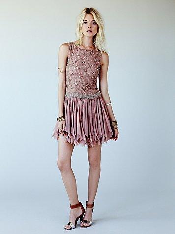 Free People Samantha Embellished Dress
