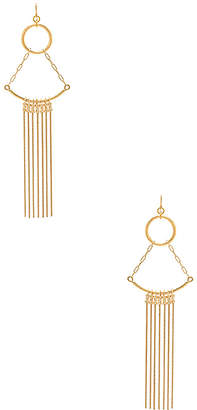 Vanessa Mooney Cher Earrings in Metallic Gold. $70 thestylecure.com