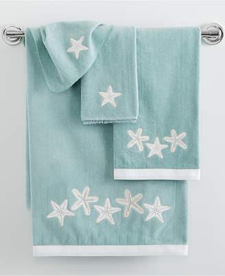 """Avanti Sequin Shells 27"""" x 50"""" Bath Towel Bedding"""