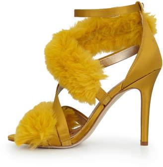 6189c726cf3d Sam Edelman Adelle Faux Fur Heeled Sandal