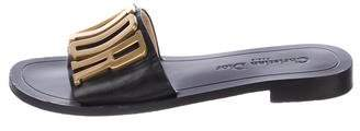 Christian Dior Revolution Logo Slide Sandals
