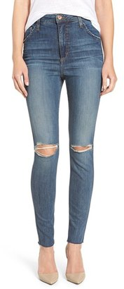 Joe's 'Bella' Ripped High Rise Skinny Jeans (Mellie) $210 thestylecure.com