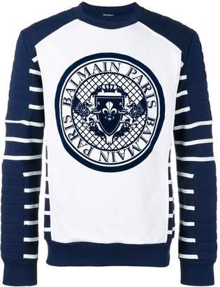 Balmain medallion biker sweatshirt