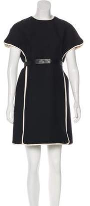 Valentino Belted Wool & Silk Dress