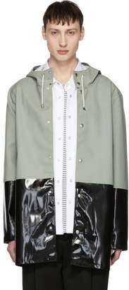 Stutterheim Green and Black Stockholm Raincoat