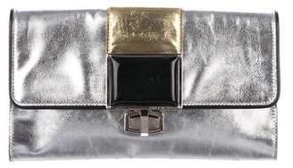Balenciaga Tricolor Leather Clutch