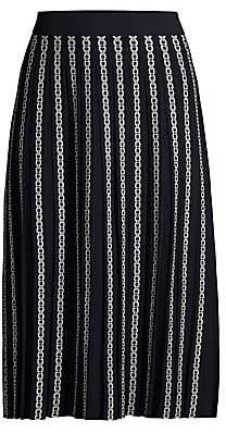 Tory Burch Women's Gemini Link Jacquard Pleated Skirt