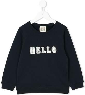Douuod Kids hello print sweatshirt