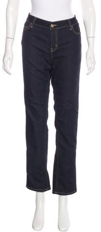 Kate Spade Kate Spade New York Mid-Rise Straight-Leg Jeans