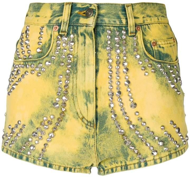 Gucci embellished denim shorts