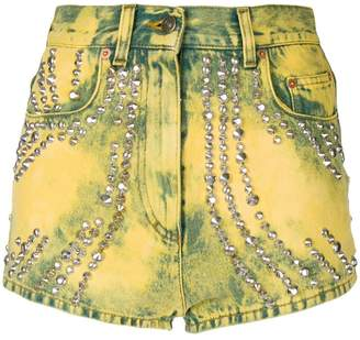 Gucci embellished denim shorts