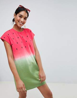 Asos Design Watermelon Mini Dress