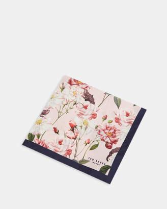 Ted Baker RYE Floral print silk pocket square