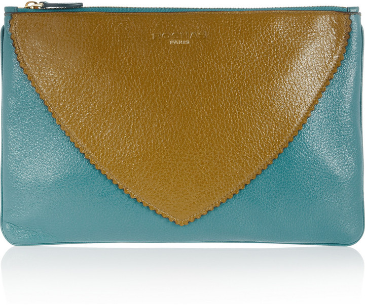 Rochas Two-tone leather clutch