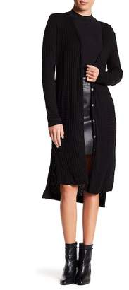 Michael Stars Ribbed Elbow Patch Cardigan