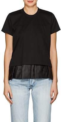Noir Kei Ninomiya Women's Peplum Cotton T-Shirt