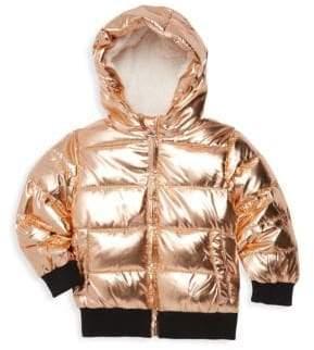 Tahari Little Girl's Metallic Quilted Jacket