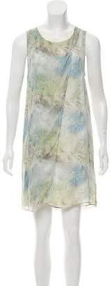 Theyskens' Theory Silk Patterned Dress