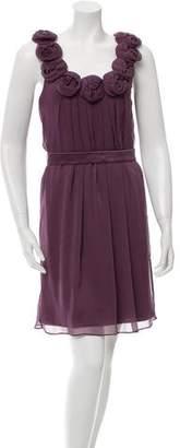 Lela Rose Silk Sleeveless Dress