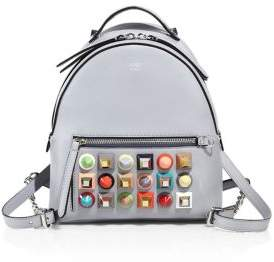 Fendi Multicolor Studded Leather Mini Backpack