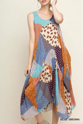 Umgee USA Floral Patchwork Maxi-Dress