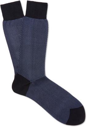TOM FORD Herringbone Cotton Socks $90 thestylecure.com