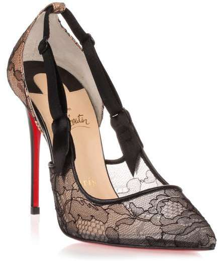 Christian Louboutin  Christian Louboutin Hot Jeanbi 100 black lace pump