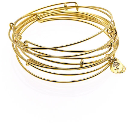 Alex and Ani Yellow Gold Expandable Wire Bangles