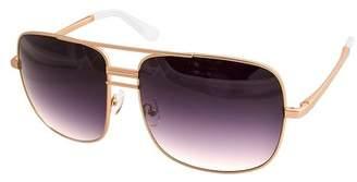 Cat Eye AQS Lia 60mm Oversized Aviator Sunglasses