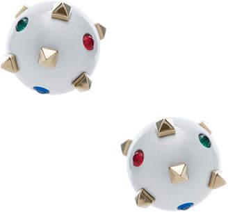 Valentino Embellished Pearl Stud Earrings