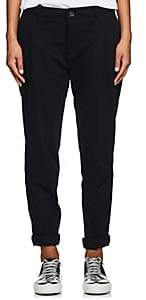 James Perse WOMEN'S COTTON TAPERED TROUSERS-BLACK SIZE 26