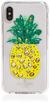 Kate Spade Jeweled Pineapple iPhone X Case