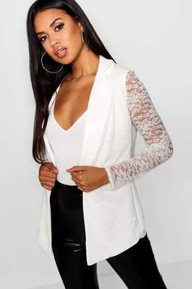 boohoo Lace Longline Blazer