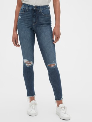 Gap High Rise Distressed Favorite Jeggings with Secret Smoothing Pockets
