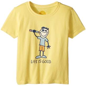 Life is Good Crayon Jake Crusher Kid's T Shirt