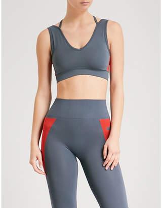 LAAIN Sophia stretch-jersey sports bra