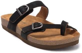 Eastland Tiogo Buckle Suede Slide Sandal