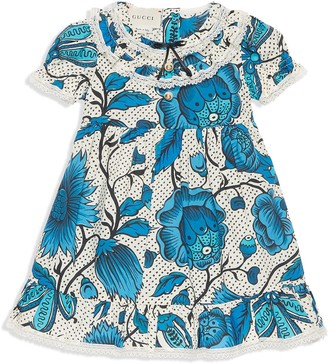 Gucci Kids Baby dress with watercolour flowers