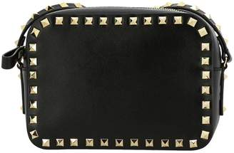 Valentino GARAVANI Mini Bag Rockstud Spike Camera Bag In Leather With Shoulder Strap